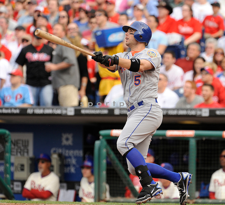 DAVID WRIGHT, of the New York Mets, in action during the Mets game against the Philadelphia Phillies on April 14, 2012 at Citizens Bank Park in Philadelphia, PA. The Mets beat the Phillies 5-0.