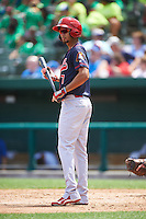 Peoria Chiefs right fielder Carlos Torres (7) at bat during the first game of a doubleheader against the South Bend Cubs on July 25, 2016 at Four Winds Field in South Bend, Indiana.  South Bend defeated Peoria 9-8.  (Mike Janes/Four Seam Images)
