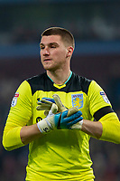 Sam Johnstone of Aston Villa during the Sky Bet Championship match between Aston Villa and Cardiff City at Villa Park, Birmingham, England on 10 April 2018. Photo by Mark  Hawkins / PRiME Media Images.