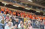 11.04.2018, Arena am Ischeland, Hagen, GER, 2. BBL PRO A, Play-Offs, Phoenix Hagen vs Rasta Vechta, im Bild<br /> <br /> <br /> Fans Vechta<br /> <br /> Foto &copy; nordphoto / Treese