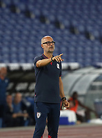 Football, Serie A: S.S. Lazio - Cagliari, Olympic stadium, Rome, July 23, 2020. <br /> Cagliari's  Walter Zenga speaks to his players during the Italian Serie A football match between Lazio and Cagliari at Rome's Olympic stadium, Rome, on July 23, 2020. <br /> UPDATE IMAGES PRESS/Isabella Bonotto