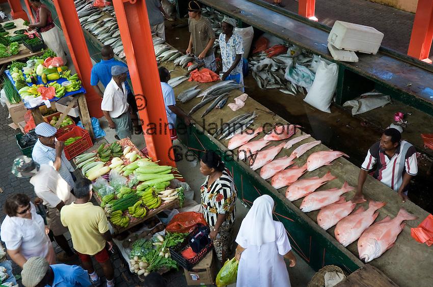 Seychelles, Island Mahe, capital Victoria: Sir Selwyn Selwyn-Clarke Market<br />