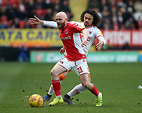 Blackpool's Nya Kirby chases down Charlton Athletic's Jonny Williams<br /> <br /> Photographer David Shipman/CameraSport<br /> <br /> The EFL Sky Bet League One - Charlton Athletic v Blackpool - Saturday 16th February 2019 - The Valley - London<br /> <br /> World Copyright © 2019 CameraSport. All rights reserved. 43 Linden Ave. Countesthorpe. Leicester. England. LE8 5PG - Tel: +44 (0) 116 277 4147 - admin@camerasport.com - www.camerasport.com