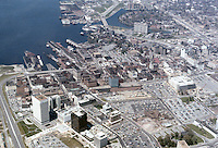 1972 ?..Redevelopment.Downtown South (R-9)..AERIAL VIEW.LOOKING WEST...NEG#.NRHA#..