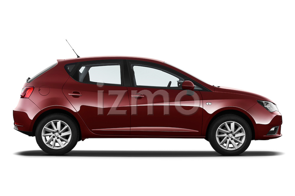 Passenger side profile view of a 2013 Seat Ibiza Style Hatchback .