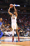 MILWAUKEE, WI - MARCH 16:  Minnesota Gophers forward Eric Curry (24) shoots a three point basket during the first half of the 2017 NCAA Men's Basketball Tournament held at BMO Harris Bradley Center on March 16, 2017 in Milwaukee, Wisconsin. (Photo by Jamie Schwaberow/NCAA Photos via Getty Images)