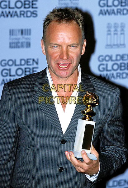 STING.Golden Globe Awards.award, pinstripe, half length, half-length.www.capitalpictures.com.sales@capitalpictures.com.©Capital Pictures