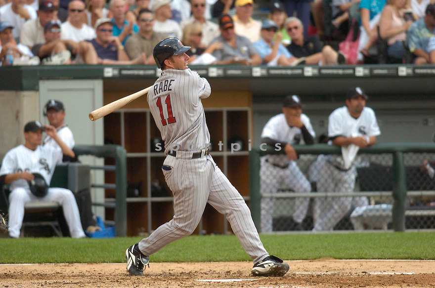 Josh Rabe, of the Minnesota Twins, in action against the Chicago White Sox of July 26, 2006 in Chicago...Twins win 7-4...Chris Bernacchi / SportPics
