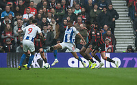 Brighton & Hove Albion's Bernardo (center) under pressure from Bournemouth Jefferson Lerma & Adam Smith <br /> <br /> Photographer David Horton/CameraSport<br /> <br /> The Premier League - Brighton and Hove Albion v Bournemouth - Saturday 13th April 2019 - The Amex Stadium - Brighton<br /> <br /> World Copyright © 2019 CameraSport. All rights reserved. 43 Linden Ave. Countesthorpe. Leicester. England. LE8 5PG - Tel: +44 (0) 116 277 4147 - admin@camerasport.com - www.camerasport.com