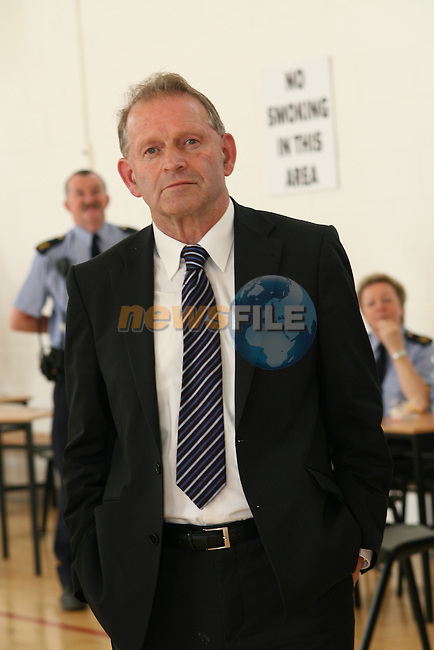Tommy Byrne just before it was announced that he failed to get enough votes for the last seat at the election count in Drogheda Institute of Further Education...Photo NEWSFILE/Jenny Matthews.(Photo credit should read Jenny Matthews/NEWSFILE)....This Picture has been sent you under the condtions enclosed by:.Newsfile Ltd..The Studio,.Millmount Abbey,.Drogheda,.Co Meath..Ireland..Tel: +353(0)41-9871240.Fax: +353(0)41-9871260.GSM: +353(0)86-2500958.email: pictures@newsfile.ie.www.newsfile.ie.FTP: 193.120.102.198.