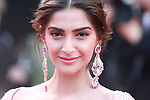 Cannes Film Festival 2017 - Day 5. 'The Meyerowitz Stories' Red Carpet  during the 70th edition of the 'Festival International du Film de Cannes' on 21/05/2017 in Cannes, France. The film festival runs from 17 to 28 May. Pictured : Sonam Kapoor