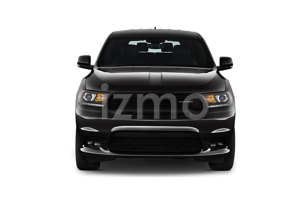Car photography straight front view of a 2019 Dodge Durango GT 5 Door SUV