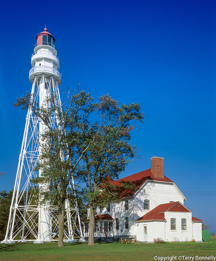 Point Beach State Park, WI: Rawley Point Lighthouse (1894) on Lake Michigan