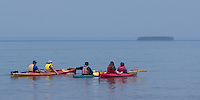Kayacking Apostle Islands National Lakeshore at Meyer's Beach near Bayfield Wisconsion.