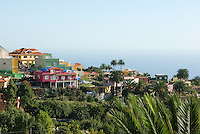 Spain, Canary Islands, La Palma, San Pedro: village at district Brena Alta - overview