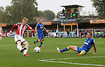 Sheffield United's Mark Duffy scoring his sides opening goal during the League One match at the Kingsmeadow Stadium, London. Picture date: September 10th, 2016. Pic David Klein/Sportimage