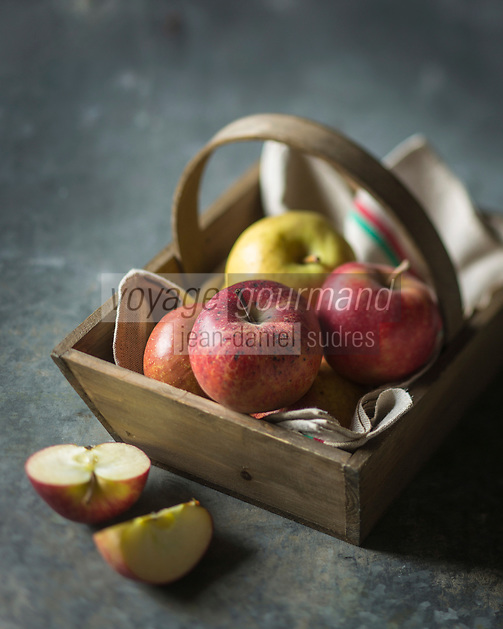 Gastronomie, Pommes // Gstronomy: Apples<br />  - Stylisme : Val&eacute;rie LHOMME