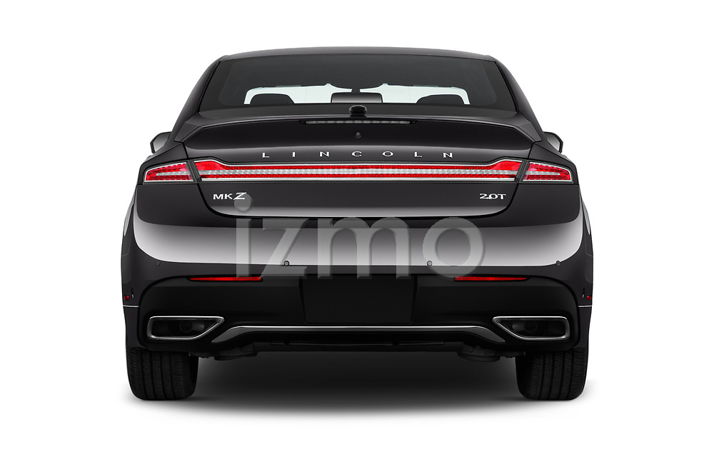 Straight rear view of 2020 Lincoln MKZ Standard 4 Door Sedan Rear View  stock images