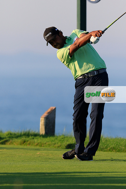 Anirban Lahiri (IND) tees off the 16th tee during Saturday's Round 3 of the 97th US PGA Championship 2015 held at Whistling Straits, Mosel, Kohler, Wisconsin, United States of America. 15/08/2015.<br /> Picture Eoin Clarke, www.golffile.ie