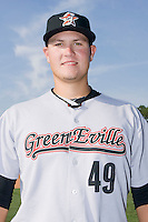 Andrea Lucati #49 of the Greeneville Astros at Burlington Athletic Stadium June22, 2010, in Burlington, North Carolina.  Photo by Brian Westerholt / Four Seam Images