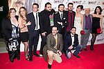 """Madrid premiere of the movie """"Rec 3. Genesis. The Wedding of the year."""" With the presence of the director Paco Plaza, and the actors Leticia Dolera and Diego Martin. In the image the team of the movie with Diego Martin, Leticia Dolera and Paco Plaza (Alterphotos/ Marta Gonzalez)"""