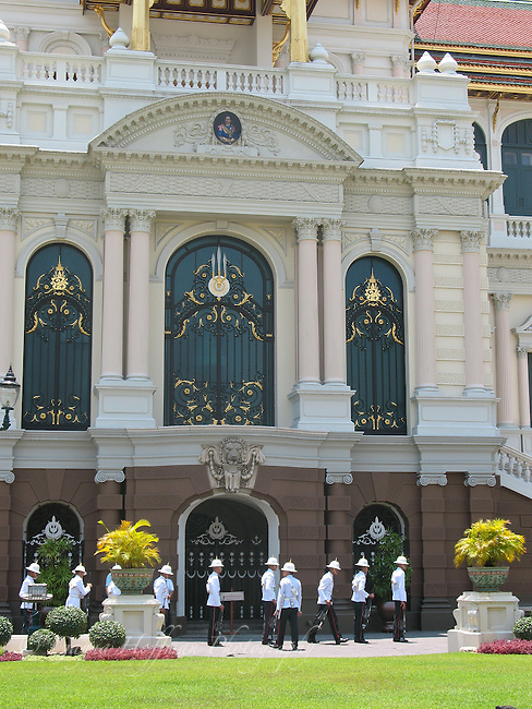 The Grand Palace, Bangkok, Thailand. Palace guards.