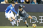 CD Leganes' Adrian Marin (l) and Celta de Vigo's Alvaro Lemos during La Liga match. January 28,2017. (ALTERPHOTOS/Acero)