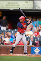 Hagerstown Suns third baseman Austin Davidson (23) at bat during a game against the Lexington Legends on May 22, 2015 at Whitaker Bank Ballpark in Lexington, Kentucky.  Lexington defeated Hagerstown 5-1.  (Mike Janes/Four Seam Images)
