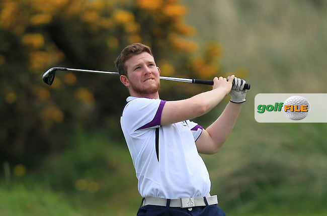 playing with Jonathan Yates (Naas) on the 8th tee during the Flogas Irish Amateur Open Championship Am-Am at Royal Dublin on Monday 9th May 2016.<br /> Picture:  Thos Caffrey / www.golffile.ie