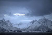 Isole Lofoten nella foto fiordi geografico Svolv&aelig;r 12/02/2016 foto Matteo Biatta<br /> <br /> Lofoten Islands in the picture fiord geographic Svolv&aelig;r 12/02/2016 photo by Matteo Biatta