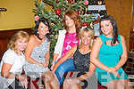 Maggie O'Shea, Katie, Nicola and Annamarie Allen with Katelyn Nolan all from Fenit who dined out in the Grand hotel, Tralee last Friday night for Women's Christmas.