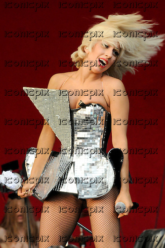 LADY GAGA -  performing live on the Other Stage on Day One of the Glastonbury Festival held at Pilton Farm in Somerset UK - 26 Jun 2009.  Photo by: George Chin/IconicPix