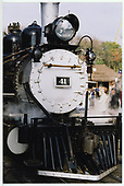 A close-up of the smokebox area of RGS #41 at Knott's Berry Farm.<br /> RGS  Buena Park, CA  Taken by Dorman, Richard L. - 2/15/2002