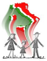 Crisi economica della famiglia italiana. Economic crisis of  italian family....