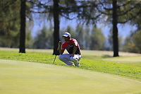 Haydn Porteous (RSA) on the 5th green during Saturday's Round 3 of the 2018 Omega European Masters, held at the Golf Club Crans-Sur-Sierre, Crans Montana, Switzerland. 8th September 2018.<br /> Picture: Eoin Clarke | Golffile<br /> <br /> <br /> All photos usage must carry mandatory copyright credit (&copy; Golffile | Eoin Clarke)