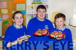 Danielle Flynn, Paddy Howard and Liam O'Sullivan at the Castleisland Community College Bake off on Friday