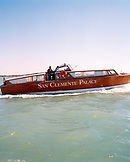 ITALY, Venice, the San Clemente Palace Hotel water taxi.