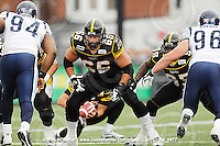 September 6, 2010; Hamilton, ON, CAN; Hamilton Tiger-Cats offensive lineman Alexandre Gauthier (66). CFL football: Labour Day Classic - Toronto Argonauts vs. Hamilton Tiger-Cats at Ivor Wynne Stadium. The Tiger-Cats defeated the Argonauts 28-13. Mandatory Credit: Ron Scheffler.