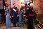 Military Christmas at Madrid Royal Palace. Juan Carlos Borbon , Sofia de Grecia, Felipe Borbon, jl Zapatero...Photo: MAC / ALFAQUI