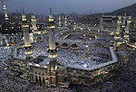 Muslim pilgrims circle the Kaaba and pray at the Grand mosque during the annual haj pilgrimage in the holy city of Mecca October 22, 2012, ahead of Eid al-Adha which marks the end of haj. On October 25, the day of Arafat, millions of Muslim pilgrims will stand in prayer on Mount Arafat near Mecca at the peak of the annual pilgrimage. Photo by APAimages/STR.
