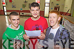 Big smiles for Aidan Galvin, David Walsh and Mike McKenna  from St Michael's College, Listowel who received their Leaving Cert results on Wednesday.