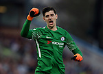 Thibaut Courtois of Chelsea celebrates the first goal during the premier league match at the Turf Moor Stadium, Burnley. Picture date 19th April 2018. Picture credit should read: Simon Bellis/Sportimage
