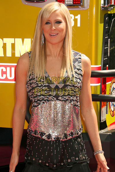 BRITTANY DANIEL .2007 MTV Movie Awards held at the Gibson Amphitheater, Universal City, California, USA..June 3rd, 2007.half length black pattern sequins sequined sleeveless dress .CAP/ADM/RE.©Russ Elliot/AdMedia/Capital Pictures *** Local Caption *** ...