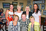Having a fun at the Bon Jovee tribute band at the Austin Stack's GAA club last Sunday night as part of the Connolly pk,Tralee resident's gathering weekend were(seated)L-R Peggy O'Connor,Sylvie O'Sullivan&Kathleen Walsh(Back)l-r Paula Walsh,Llz Heaslip,Helena O'Sullivan&Kerrie McCord.