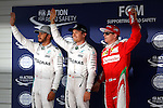 (L-R)  Lewis Hamilton (GBR),  Nico Rosberg (GER),  Kimi Raikkonen (FIN), <br /> OCTOBER 8, 2016 - F1 : Japanese Formula One Grand Prix Qualifying <br /> at Suzuka Circuit in Suzuka, Japan. (Photo by Sho Tamura/AFLO SPORT) GERMANY OUT
