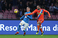 Jose Maria Callejon of Napoli and Mohamed Fares of SPAL<br /> Napoli compete for the ball during the Serie A 2018/2019 football match between SSC Napoli  and Spal at stadio San Paolo, Napoli, December 22, 2018 <br />  Foto Cesare Purini / Insidefoto