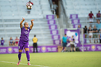 Orlando, FL - Saturday July 15, 2017: Camila Martins Pereira during a regular season National Women's Soccer League (NWSL) match between the Orlando Pride and FC Kansas City at Orlando City Stadium.