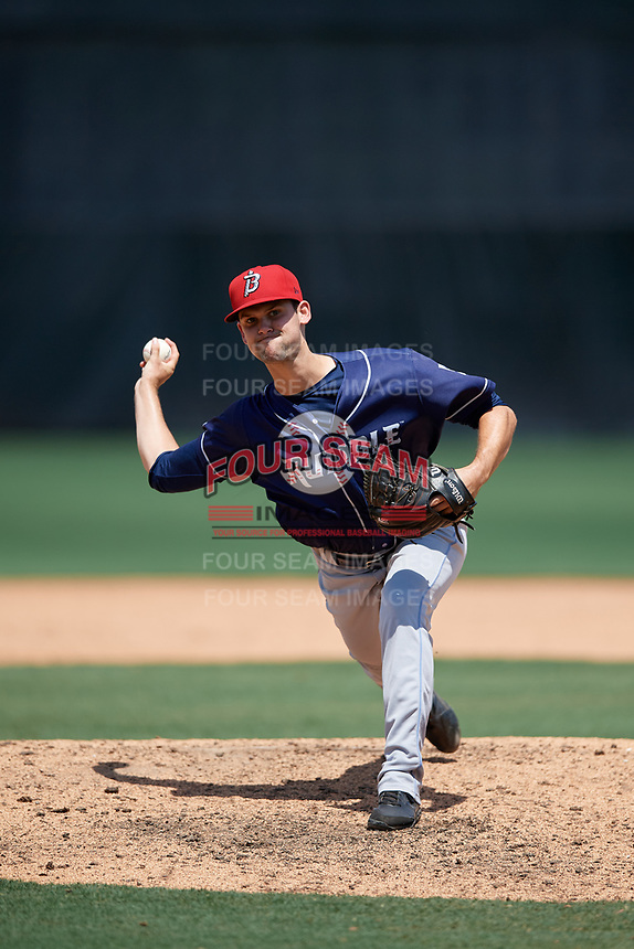 Binghamton Rumble Ponies pitcher Stephen Villines (5) during an Eastern League game against the Bowie Baysox on August 21, 2019 at Prince George's Stadium in Bowie, Maryland.  Bowie defeated Binghamton 7-6 in ten innings.  (Mike Janes/Four Seam Images)