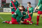 2017-11-05 / Voetbal / seizoen 2017 -2018 / KFCM Hallaar - K.Puurs EXC RSK / Stein Warpy bezorgt FCM Hallaar de 2-0  ,Foto: Mpics.be
