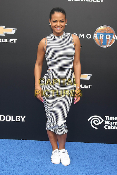 ANAHEIM, CA - MAY 9: Christina Milian at the world premiere of Disney's 'Tomorrowland' at Disneyland, Anaheim on May 9, 2015 in Anaheim, California. <br /> CAP/MPI/DC/DE<br /> &copy;DE/DC/MPI/Capital Pictures